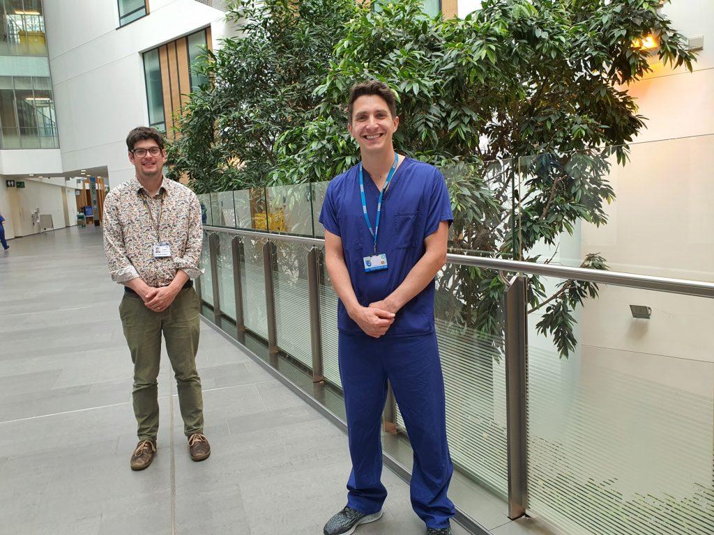Admin staff in hospital building