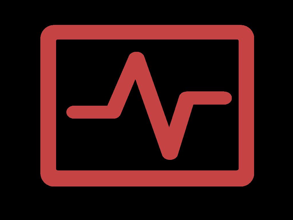 Icon: SHC Equipment symbol of ECG screen