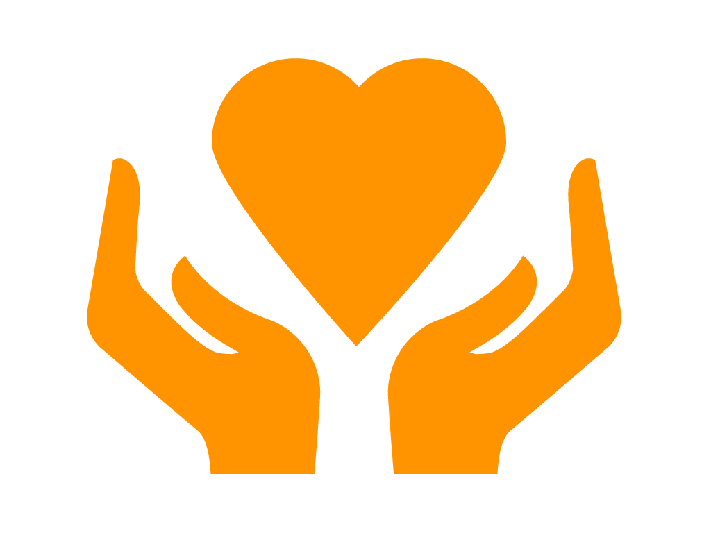 Hands and Heart Icon: Patient & Family Wellbeing